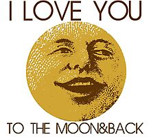 Vintage moon love Photographic Print