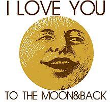 Vintage moon love Photographic Print