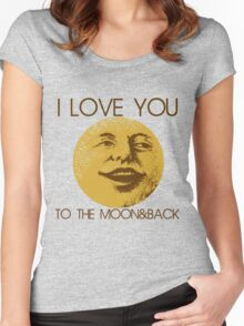Vintage moon love Women's Fitted Scoop T-Shirt