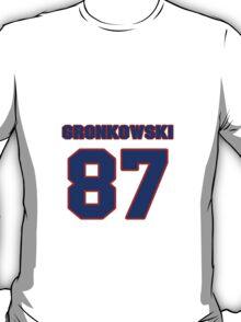 National football player Dan Gronkowski jersey 87 T-Shirt
