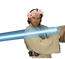 obi wan kenobi with flower crown by sherlokian