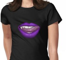 VAMPIRE LIPS - PURPLE Womens Fitted T-Shirt