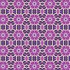 Purple Pink White Fractal Art Pattern by Pixie Copley LRPS