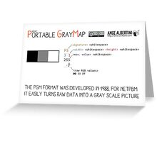.PGM: Portable Graymap Greeting Card