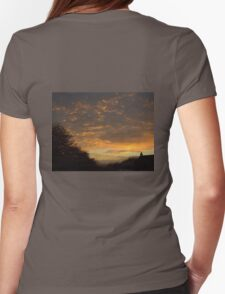 Sunset through Dark Clouds Womens Fitted T-Shirt