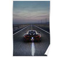 Flaming McLaren P1 Poster