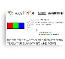 .PPM: Portable Pixmap Canvas Print