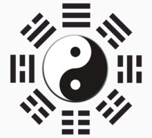 Yin & Yang, I Ching, Pure & simple, BLACK by TOM HILL - Designer