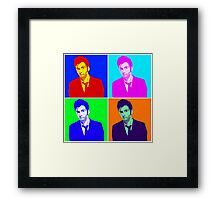 Doctor Who Warhol Framed Print