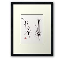 """Tao"" Original sumi-e brush painting on paper. Framed Print"
