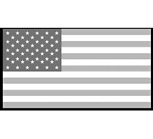 American Flag, Stars & Stripes, in Grey, USA, America, Pure & Simple Photographic Print