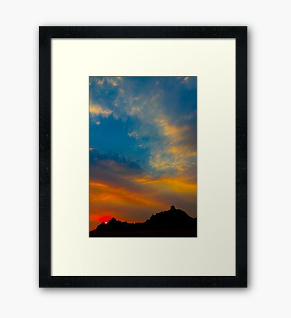 Sunset over Badlands National Park .7 Framed Print