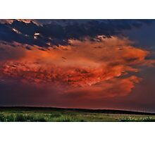 Sunset Thunderstorms Upon the Plains Photographic Print