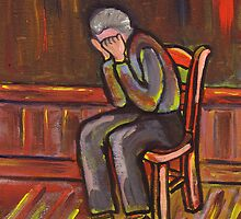 Old man crying (from my original acrylic painting) by sword