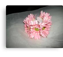 "wedding headpiece name ""Elsa""- crown of flowers   Canvas Print"