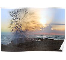 Fireworks at Sunrise Poster