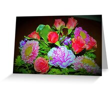 Rose combo delight Greeting Card