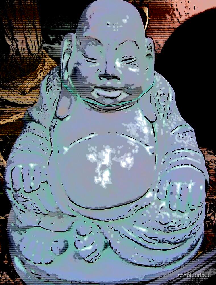 Comic Abstract Buddha by steelwidow