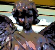 Comic Abstract Sad Angel by steelwidow
