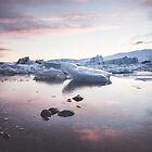 Sunset over Glacier Lagoon by ewkaphoto
