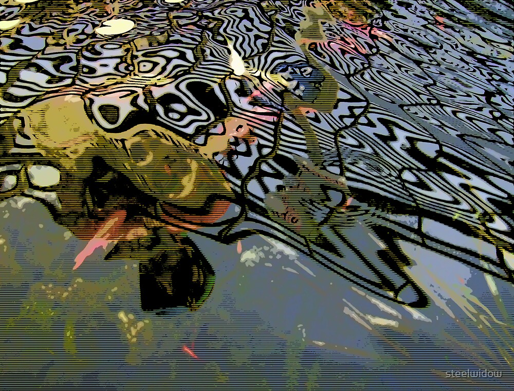 Comic Abstract Water Swirls by steelwidow