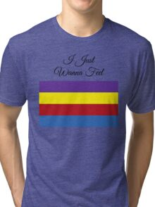 Purple, Yellow, Red, and Blue Tri-blend T-Shirt