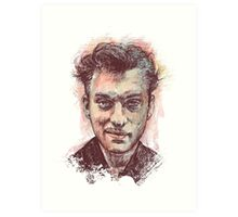 Jude Law Portrait Art Print