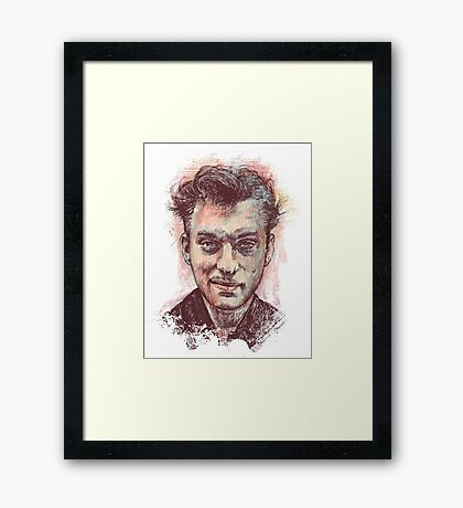 Jude Law Portrait Framed Print