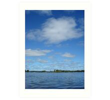 Clouds above the water Art Print