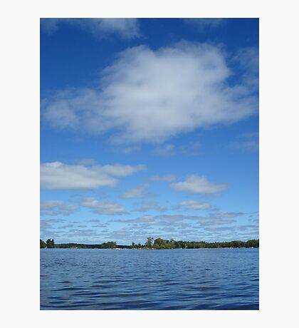 Clouds above the water Photographic Print
