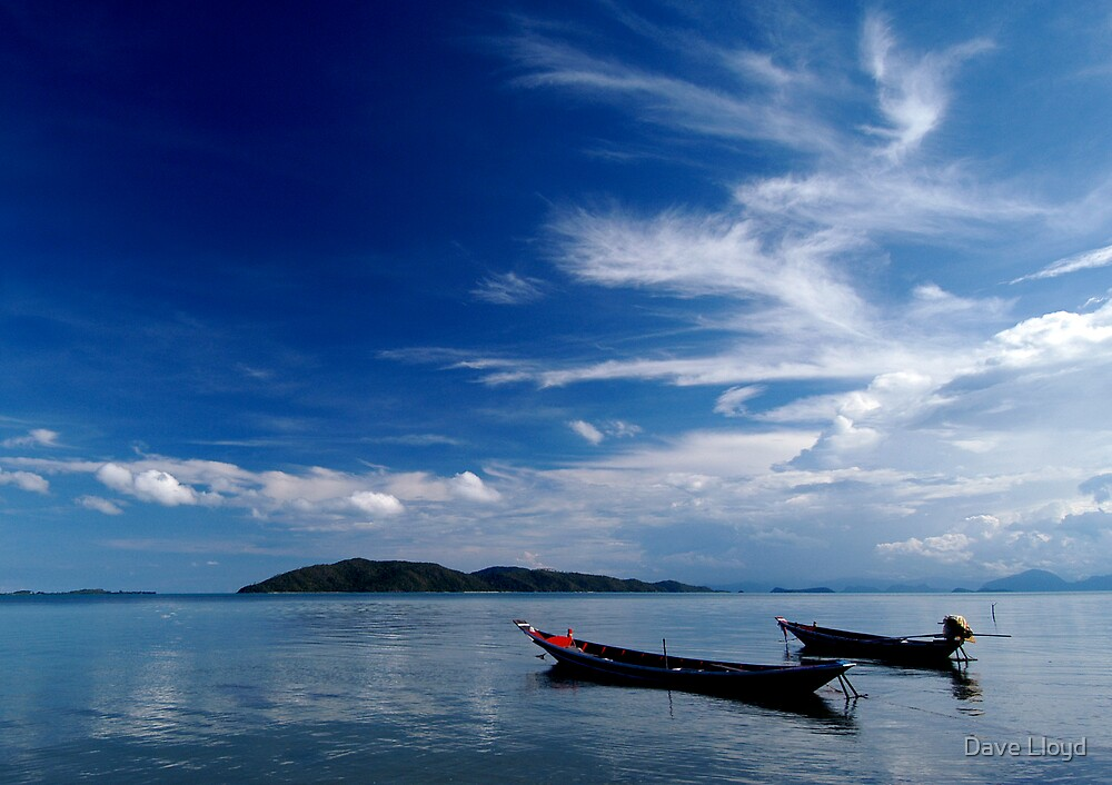 Fishing Boats Koh Samui by Dave Lloyd