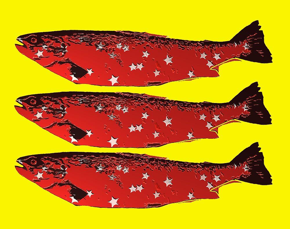 three red fish by kevinblake