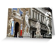 All About Italy. Piece 15 - Florence. David is Everywhere Greeting Card