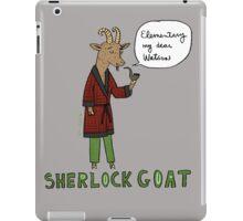 Sherlock Goat -- Elementary My Dear Watson iPad Case/Skin