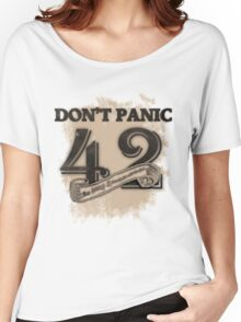 the response of any hitchhiker Women's Relaxed Fit T-Shirt