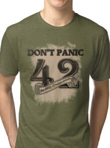 the response of any hitchhiker Tri-blend T-Shirt