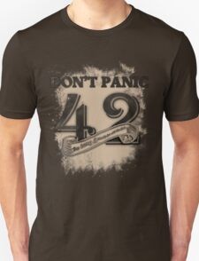 the response of any hitchhiker Unisex T-Shirt