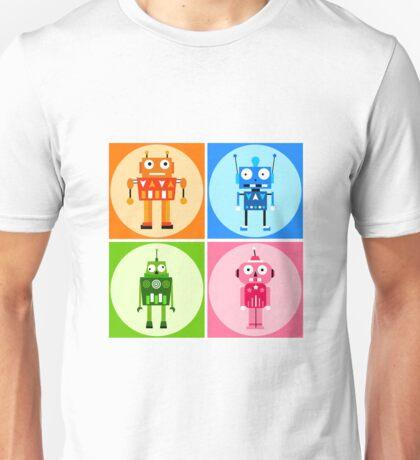 funny robots Unisex T-Shirt