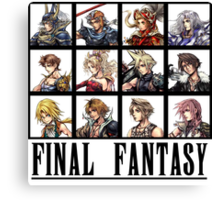 History of Final Fantasy Canvas Print