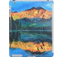 Mountain Jasper with reflection on Maligne Lake iPad Case/Skin