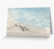 Beach Pipers Lynda Silva Greeting Card