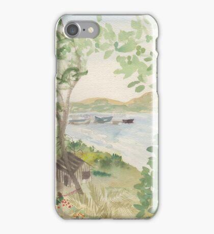 Old Hotel Benicia California landscape Lynda Silva iPhone Case/Skin