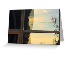 RE flections tree in door frame Greeting Card
