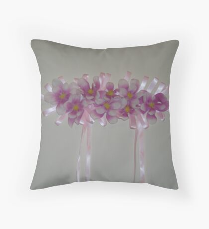 kaylee - wedding headpiece - a work of fine art - full view Throw Pillow