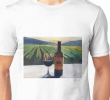 Napa Valley Wine Bottle with Red Wine Unisex T-Shirt