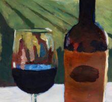 Napa Valley Wine Bottle with Red Wine Sticker
