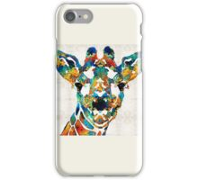 Colorful Giraffe Art - Curious - By Sharon Cummings iPhone Case/Skin