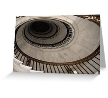 The Oval Staircase Greeting Card