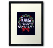 IBC Christmas Line Up Framed Print