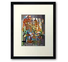 Collage Construct No. 2 with Poem Framed Print